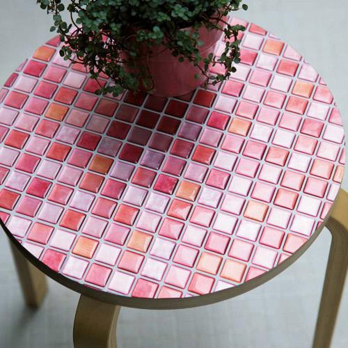3Dモザイクタイルシール ピンク系