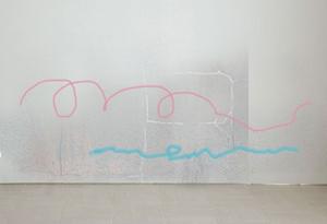 壁の落書き、汚れ隠しに