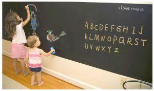 子供部屋に黒板ステッカー
