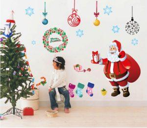 クリスマスデコレーションのウォールステッカー
