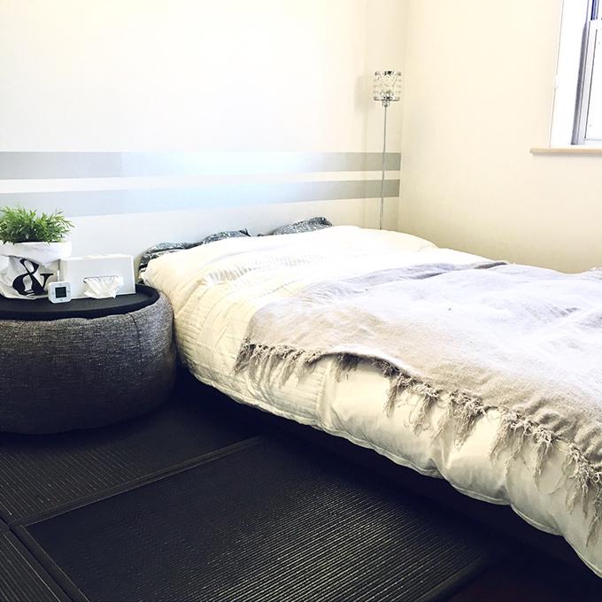 寝室 ベッドヘッド側 クッションシートFT-01 使用例