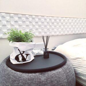 寝室 ベッドルーム クッションシート使用例