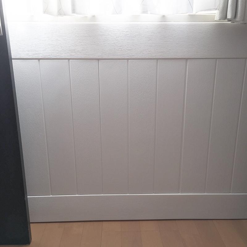 クッションシート フォームパネルFP-01、フォームモールディングFM-01 板壁・腰壁 アレンジ例