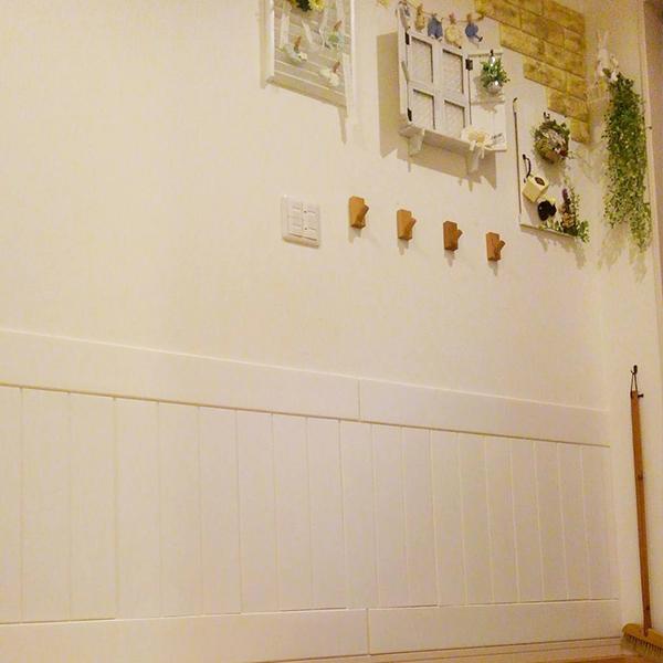 クッションシートで腰壁・板壁にした使用例