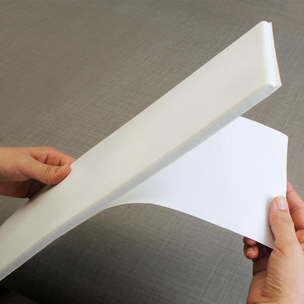 フォームパネルの台紙をはがします