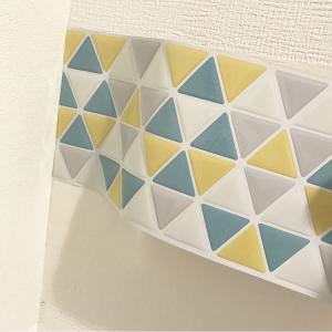 三角タイルシールの切り方