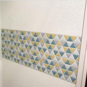三角タイルシール 使用例