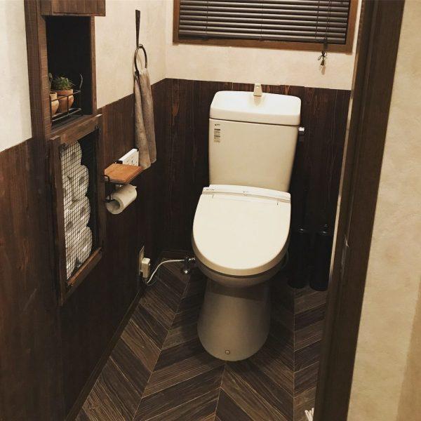 フロアシートトイレ施工例