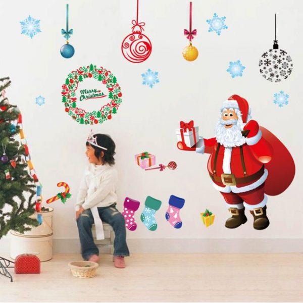 クリスマスウォールステッカーサンタAY226B