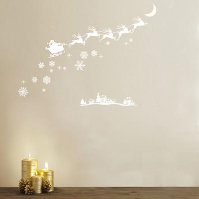 クリスマスウォールステッカー蓄光/サンタとトナカイ(PSC61021)