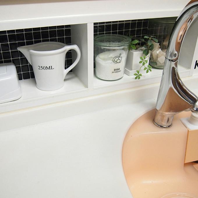 モザイクタイルシールALT-19 キッチンへの使用例
