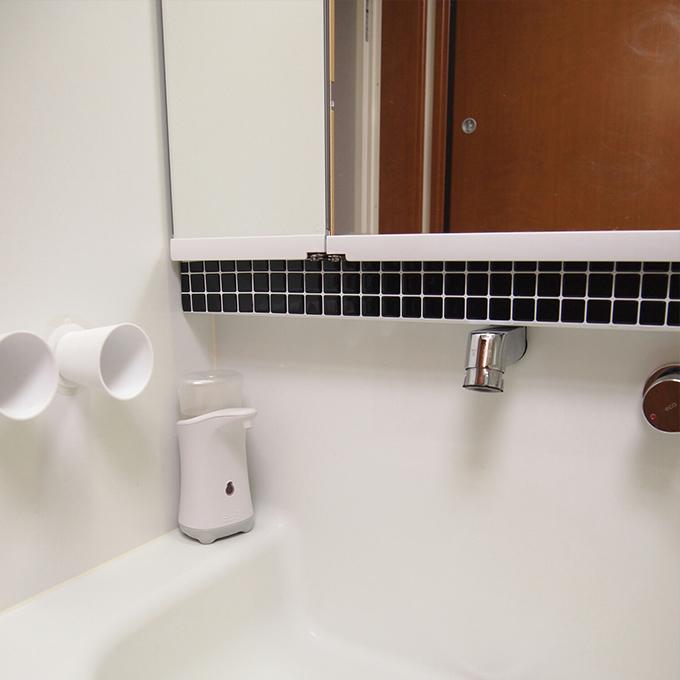モザイクタイルシールALT-19 洗面所 使用例
