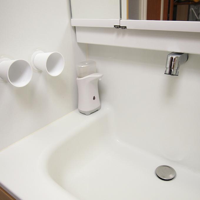 モザイクタイルシール 洗面化粧台 使用例