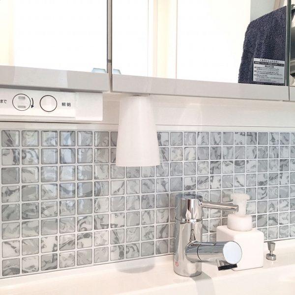 モザイクタイルシール洗面アレンジ