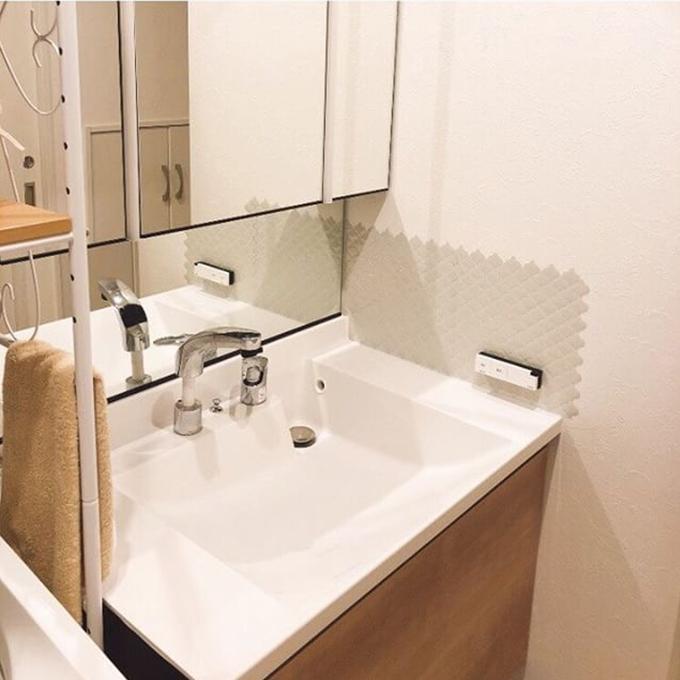 ランタンタイルシール 洗面所 使用例