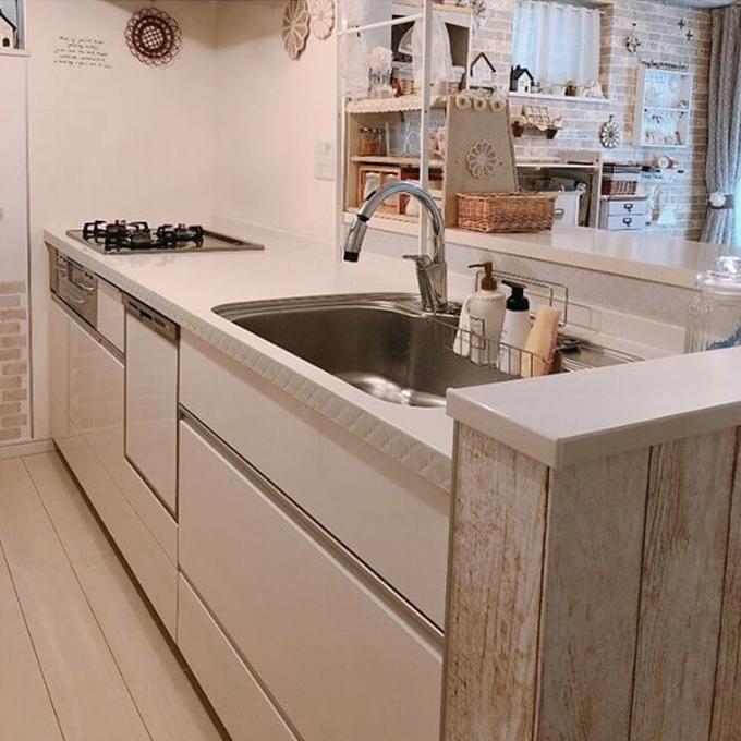 コラベルタイルシール キッチン使用例