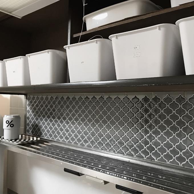 ランタンタイルシールMUS キッチン使用例