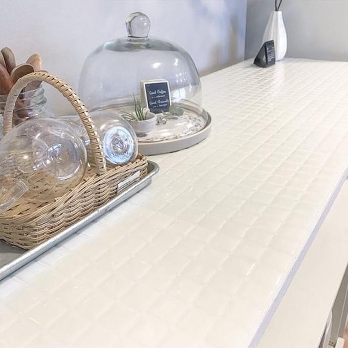 モザイクタイルシールALT-20 キッチン使用例