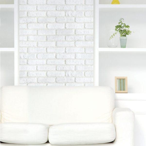 貼って剥がせる壁紙シートPETAPAレンガ/BR-03アレンジ例