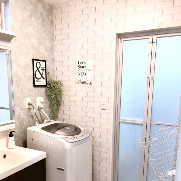 貼ってはがせる壁紙シートPETAPA洗面所