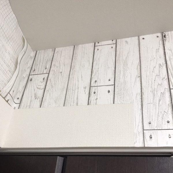 貼ってはがせる壁紙シートPETAPA狭いスペース