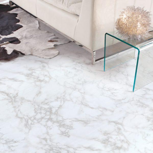 フロアシート ホワイトマーブル 大理石柄