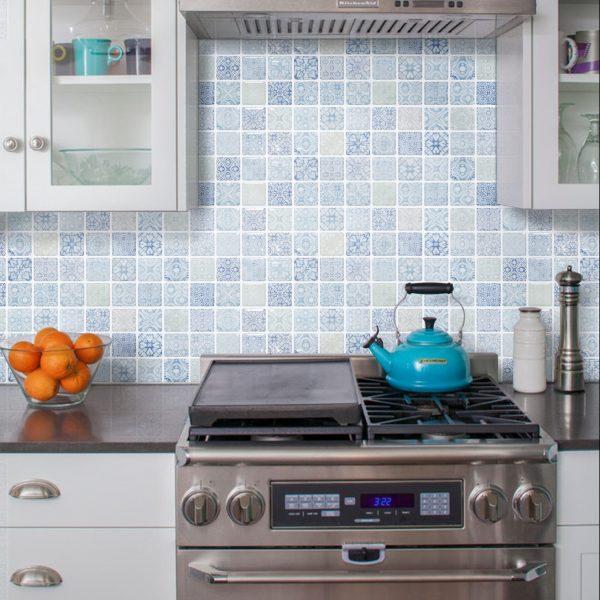 ベルメゾンカタログ 暮らしの景色 2021春 モザイクタイルシール キッチンパネル